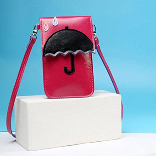 De Rouge Bandoulière amp; Mini Porte Cartoon Place Petit Container Femme Republe Rose monnaie Sac Parapluie Téléphone Carte Poches Messenger Épaule x8qYBFH8