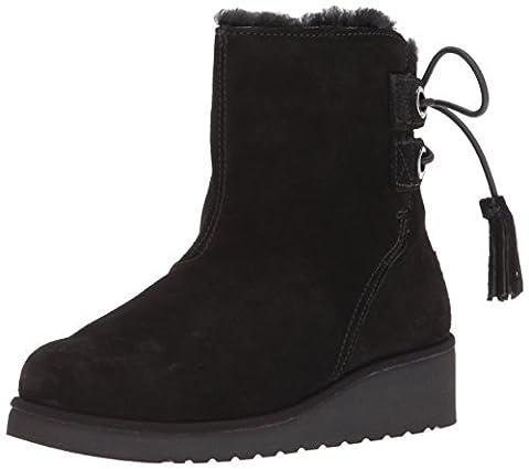 Koolaburra by UGG Women's Lomia Short Fashion Boot, Black, 07 M US - Faux Ugg Boots