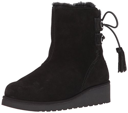 Koolaburra by UGG Women's Lomia Short Fashion Boot, Black, 11 M (Faux Ugg Boots)