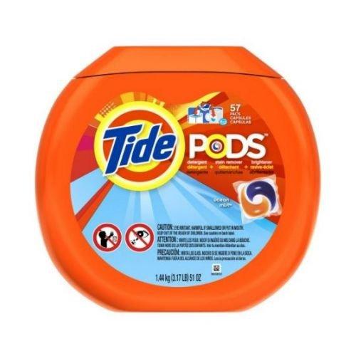 Tide Pods Ocean Mist Scent Laundry Detergent Liquid, 57 count per pack -- 4 per case. by Tide