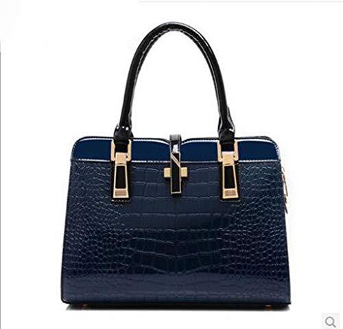 Bolso Patrn Blue Moda LXYIUN De Bolso Cuero De Mujer De Cocodrilo PU dBxwfwY4q