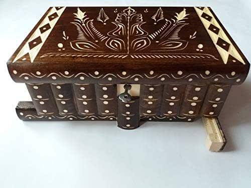 Enorme caja puzzle de rompecabezas caja de joyería mágica regalo tesoro premium nueva caja muy grande caja de misterio hecho a mano marrón tallado rompecabezas de madera de almacenamiento de madera
