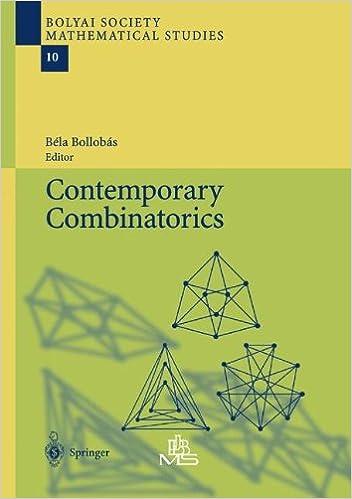 Book Contemporary Combinatorics (Bolyai Society Mathematical Studies)