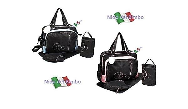 Nido del Bimbo LUX – Juego de bolsas de 4 piezas: Cambio de Pañal + Cambiador + Portabiberón + ganchos para Cochecito (accesorios térmicos) ROSA: Amazon.es: ...