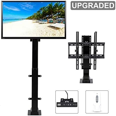 CO-Z Motorized TV Mount Lift for 30 – 65 TVs Height Adjustable up to 57 , 15 Tiltable 154lbs Weight Capacity, 60 Swivel TV Bracket with Remote Control Automatic Safety Stop