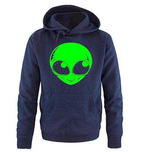 Taglia Cappuccio Verde Comedy Alien Blu xxl Sweater S Shirts Hoodie Neon Uomo Navy xqIY7q