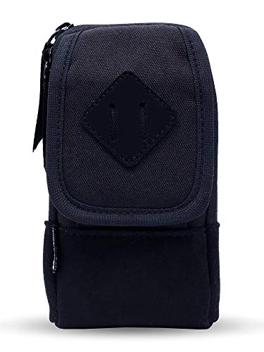 Vape Case for Travel - Secure, Organized, Premium Vape Bag - Fits Any Mechanical Box Mods, e-Juice, Battery, Tank Holder & Accessories - Wick and Wire (Primo Black/Suede)