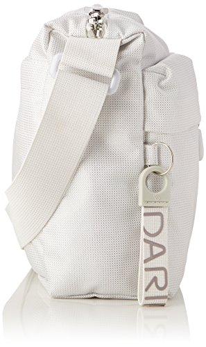 Mandarina Duck Damen Md20 Lux Tracolla Schultertasche, Weiß (White Lux), 8.5x20x29 cm