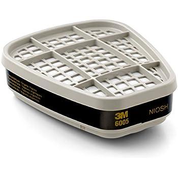 3M Formaldehyde/Organic Vapor Cartridge 6005, Respiratory Protection (Pack of 2)