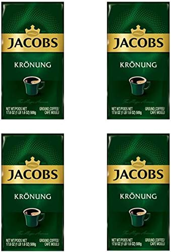 Jacobs Kronung Ground Coffee 500 Gram / 17.6 Ounce (Pack of 4)