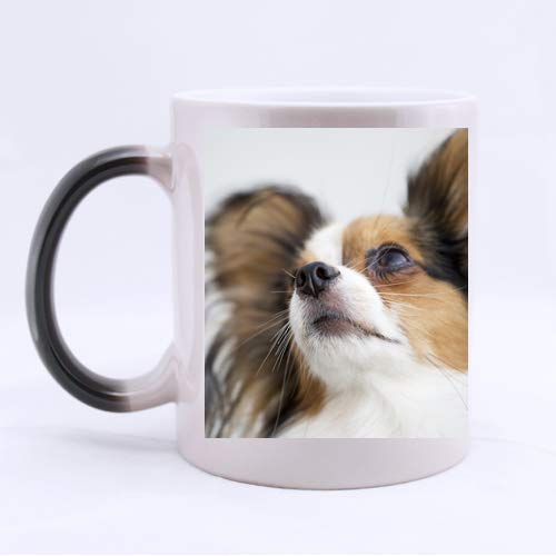 CustomLittleHome Papillon Face Custom Mug - Ceramic Morphing Mug Coffee/Tea Cup