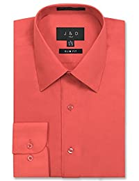 JD Apparel Men's Slim Fit Dress Shirts