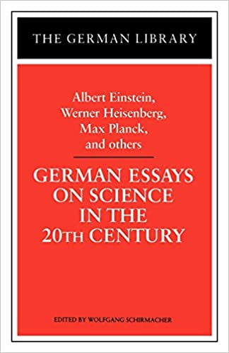 Amazoncom German Essays On Science In The Th Century Albert  German Essays On Science In The Th Century Albert Einstein Werner  Heisenberg Max Planck And Ot German Library St Edition English Model Essays also Sample Essay Thesis  Examples Of English Essays