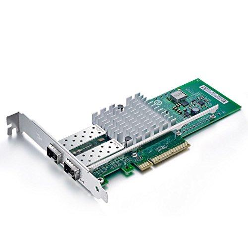 10Gtek for Intel E10G42BTDA 82599ES Chip 10GbE Ethernet Converged Network Adapter X520-DA2/X520-SR2, PCI-E X8 Dual SFP+ Port