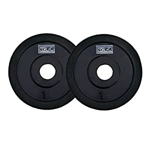 SKERA Rubber Solid Free Weight Plates (Pack of 2) (1kg to 25 kg)