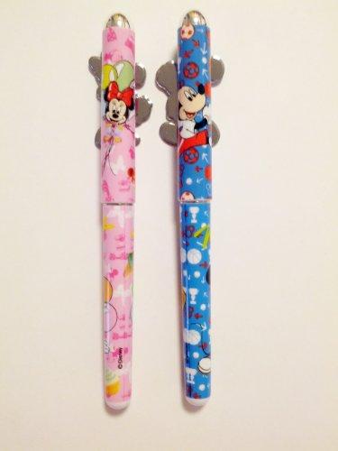 Disney Mickey & Minnie Mouse 2 pcs. Pink & Blue Ball Point Pen Set