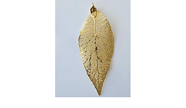Carded Real Cypress Leaf Dipped In 24k Gold Pins Bar Pins Real Dipped Leaves Brooches