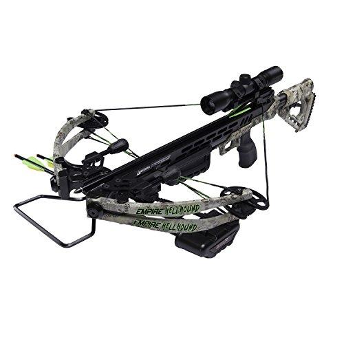 SA Sports 649 Empire Kryptek Hellhound 370 Crossbow, Kryptek Camo, 165lb Draw Weight