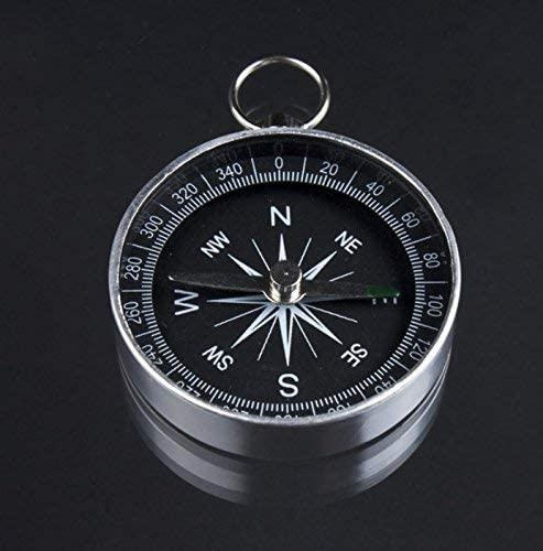 Ogquaton Multifunctional Outdoor Hiking Camping Mini Black Pocket Button Compass Cost-Effective and Durable