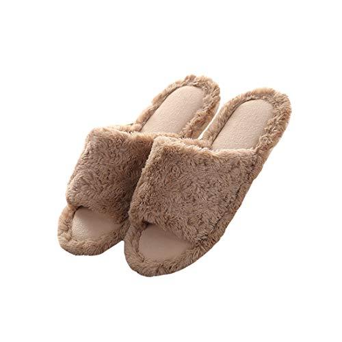 Sol Flip Maison Femmes Slipper Semelle Souple Boomly de Peluche Coton Chaussures Antidérapant Intérieur d'hiver Chaussons Hommes Café Lin Pantoufles Flop Xwaw45qExA