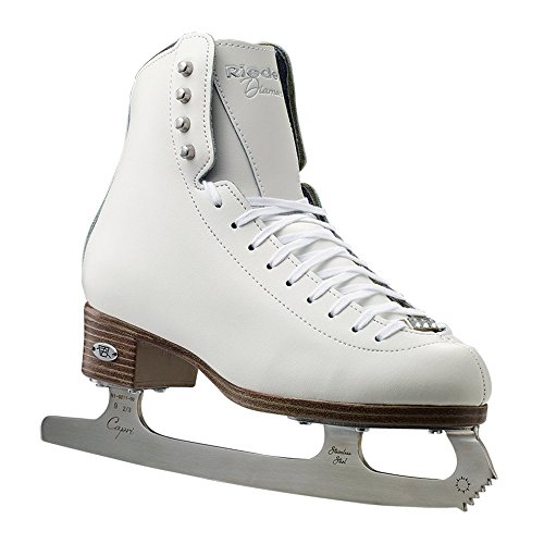 (Riedell  133 Diamond Skating Boots, White, 6.5 Medium)