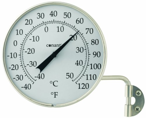 (Conant T6SN Vermont Dial Thermometer, Satin Nickel)