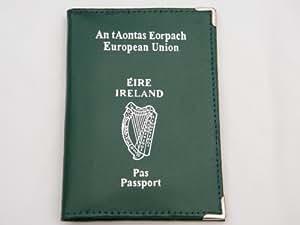 Cuero verde irlandeses Irlanda pasaporte