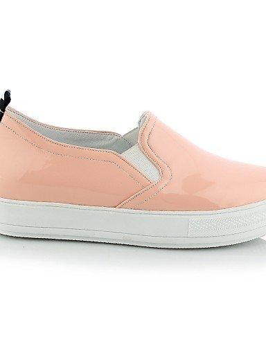 us6 Blanco Rosa De 7 negro punta Uk4 mocasines casual Eu37 Black Pink plataforma semicuero Redonda Eu43 5 us11 Uk9 Cn44 Mujer Zq 5 Cn37 Zapatos Gyht 5 PwcAq1EvH7
