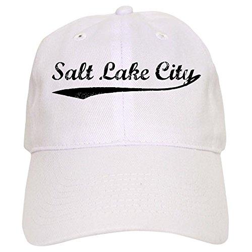 CafePress Vintage Salt Lake City - Baseball Cap with Adjustable Closure, Unique Printed Baseball - Lake Salt City Fashion Place