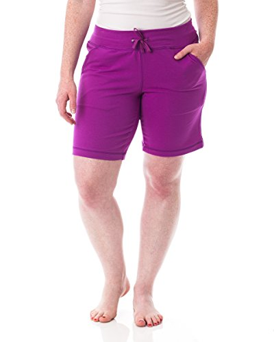 Magenta Short - Alki'i Women's Comfort Lounge Bermuda Shorts with Pockets Magenta XL