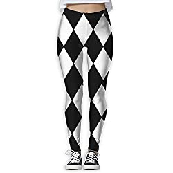 Zxcdytu Women S Power Harlequin Yoga Pants Tummy Control Workout Yoga Pants Leggings