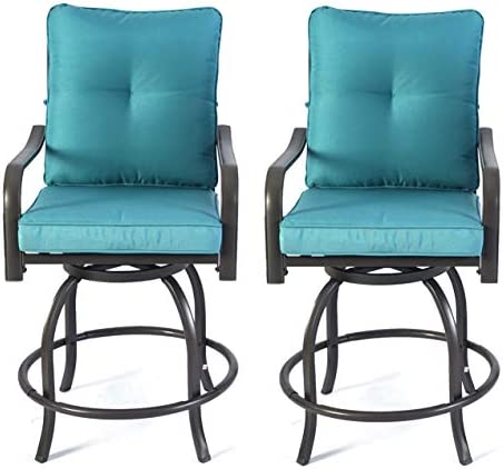 Kozyard Isabella High Swivel Bar Stools/Chair Set