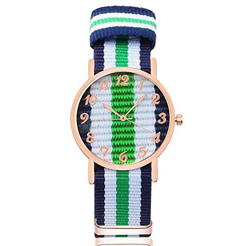 - Sport Men Quartz Watch Casual Multicolor Nylon Strap Man Women Watches Couple Wristwatches 8 Color Clock,Style 8