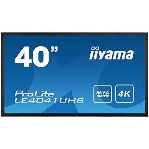 IIYAMA LE4041UHS-B1 - 40' 4K monitor with high contrast, MVA panel and robust metal bezel (Manufacturer's SKU:ProLite LE4041UHS-B1)