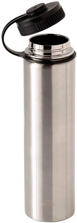 Monoprice Vacuum Sealed 25 fl. oz. Wide-Mouth Water Bottle - Stainless Steel, Keeps Drinks Cold or Hot, Sweatproof, Durable Construction - Pure Outdoor Collection, Silver