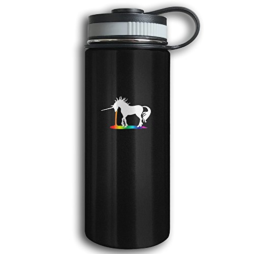 Unicorn Rainbow Sports Water Bottle - Stainless Steel Double-Wall Vacuum Insulation - Wide Mouth, Leak Proof, Keep Hot Or Cold More Than 12 Hours