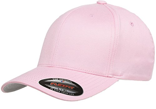Flexfit 6277 Wooly Combed Twill Cap - Large/XLarge (Pink) (Flex Fit Wooly Combed Twill)
