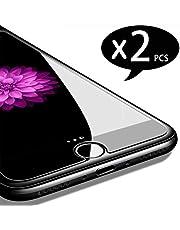 NEW'C 2 Unidades, Protector de Pantalla para iPhone 7, iPhone 8, Vidrio Cristal Templado