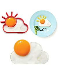 Favor 2pcs Silicone Cute Sun Cloud Egg Mold Fried Egg Mold Pancake Mold Kids Diy Cooking Tools dispense