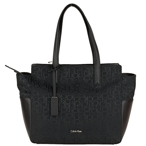 CALVIN KLEIN - Femme sac a main nina logo ew tote noir
