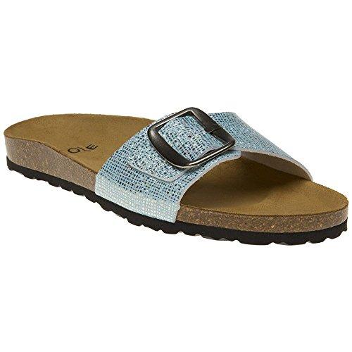 Sole Lori Sandals Blue Blue Metallic