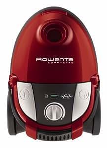 Rowenta - Aspirador Conbolsa Ro1783 Compacteo, 1800W, Filtro Hepa, Succion 27 Kpa'S, Bolsa 3L, Parquet, Bandolera Integrada. Rojo