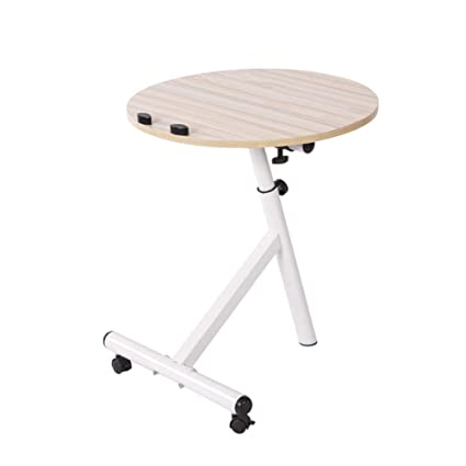96c53a200b664 Amazon.com  Axdwfd Round Laptop Table Sofa Side Table Mobile Coffee ...