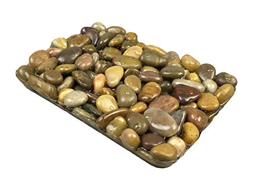 OYAMIHUI Stone Pebbles Soap Dish Shower Bathroom, Natural Soap Holder to Keep The Soap Dry