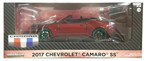 (Greenlight Chase Green Machine 18245 2017 Chevrolet Camaro Convertible Garnet Red Tintcoat 1:24 Scale )