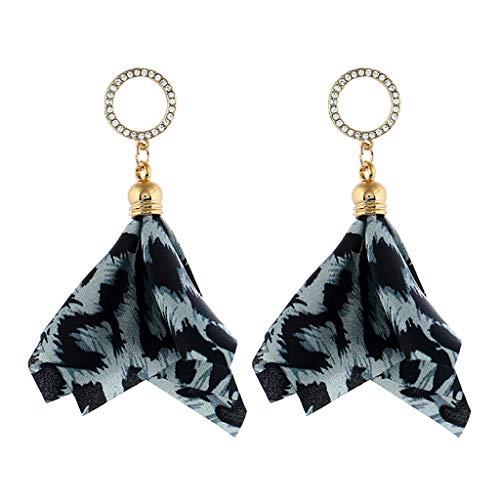 iNoDoZ Leopard Earrings for Women - Handmade Beaded Fringe Dangle Earrings, Idea Gift for Mom, Sister and Friend