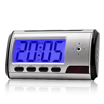 QUMOX Cámara Alarma Reloj Video Recorder Hidden Cam DVR de detección de movimiento y tarjeta de 8GB MicroSD