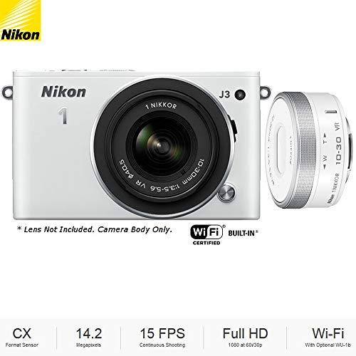 Nikon J3 White Camera Body  with 1 NIKKOR 10-30mm VR f/3.5-5