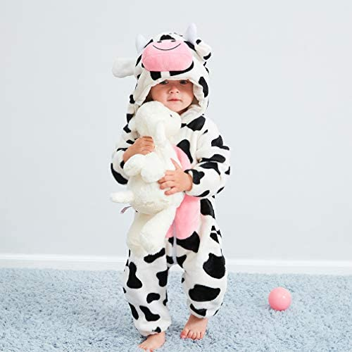 Baby Flannel Romper Animal Onesie Halloween Cosplay Pajamas Outfits Suit
