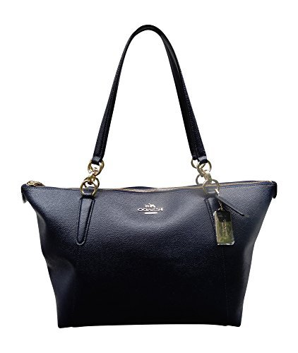 Coach Crossgrain Leather AVA Tote Bag Handbag, Midnight